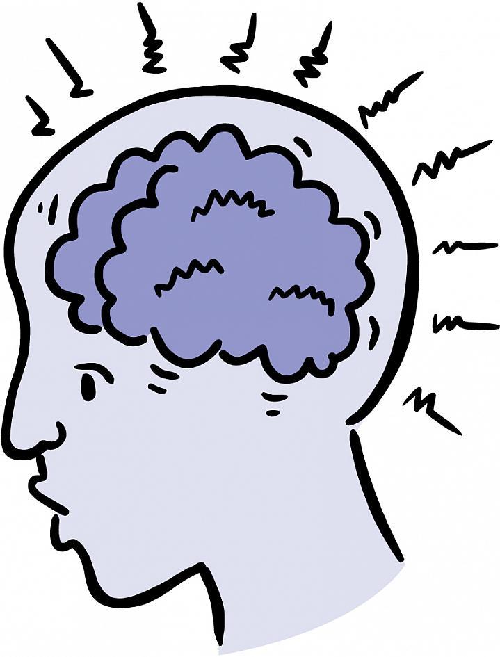 Illustration of a distressed brain.
