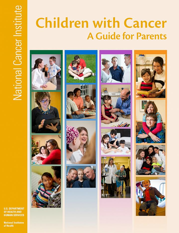 Cover of the NIH booklet Children with Cancer: A Guide for Parents.