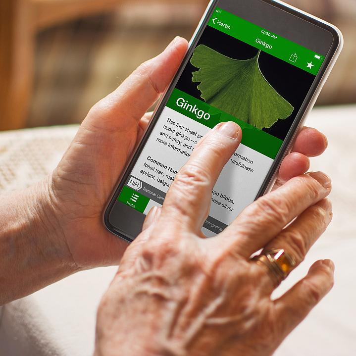 Screenshot of the Herblist App