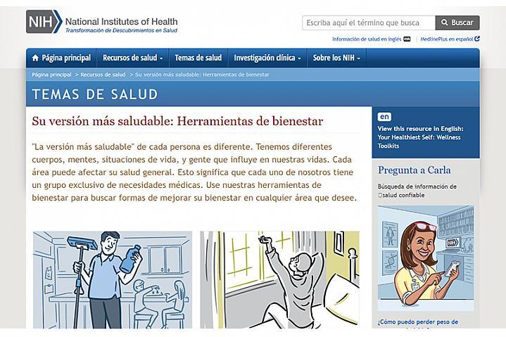 Screenshot of Su Versión Más Saludable: Herramientas de Bienestar
