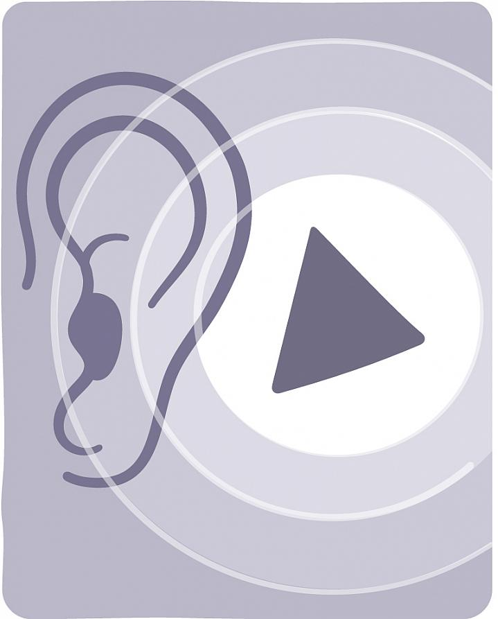 Illustration of an ear hearing a shape