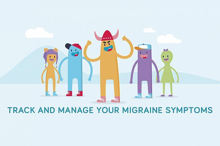 Migraine trainer app cartoon graphic