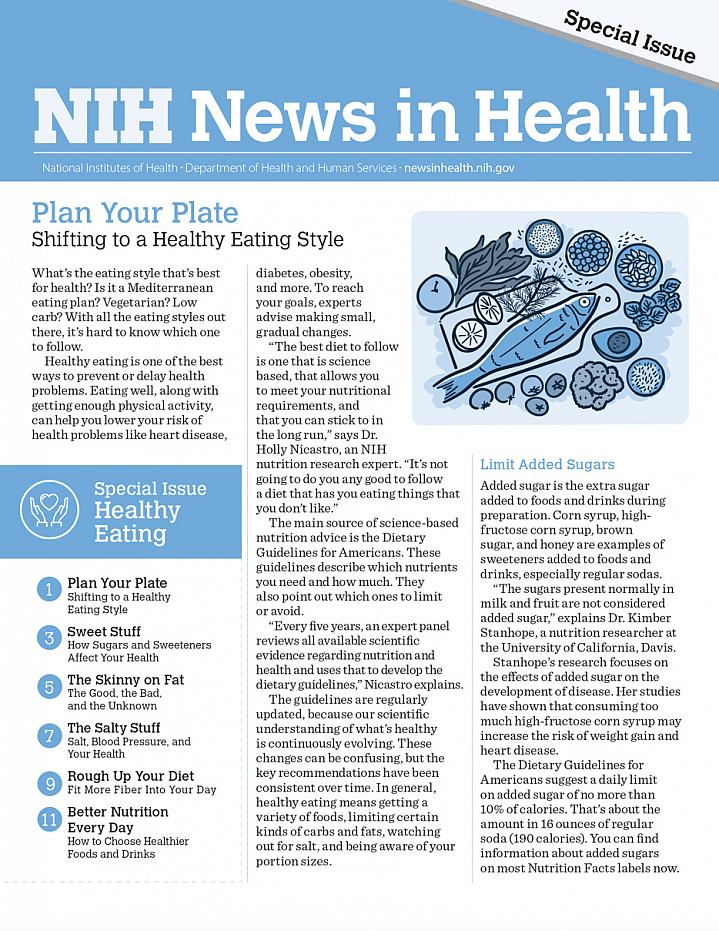 Screenshot of the Healthy Eating Special Issue